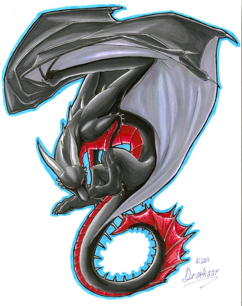 Dragon Print 1 Colour by Draconigenae666 on DeviantArt