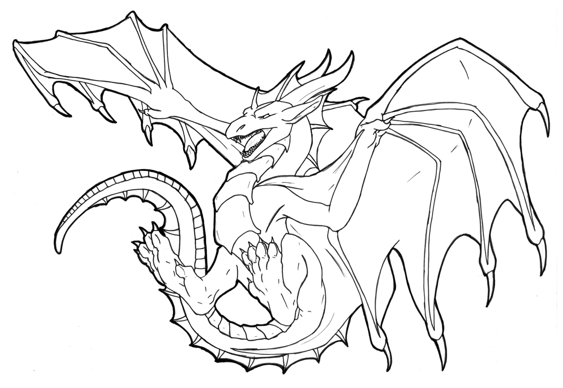 dragon print out coloring pages - photo#20