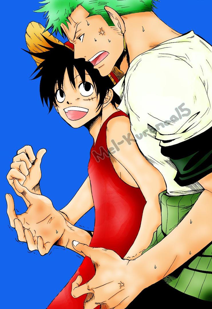 Zoro y Luffy 4 by Mel-Kuronoa15