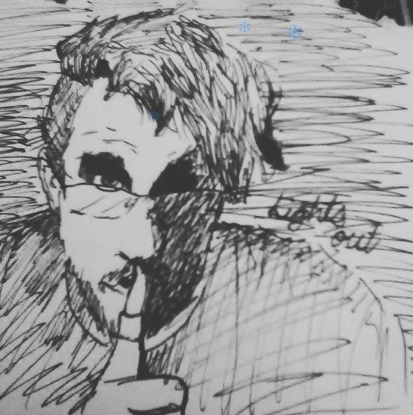 Darkiplier pen doodle by ImSwagPikachu