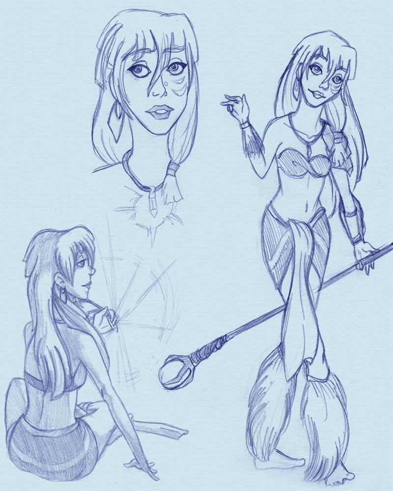 Kida sketches by Yaraffinity