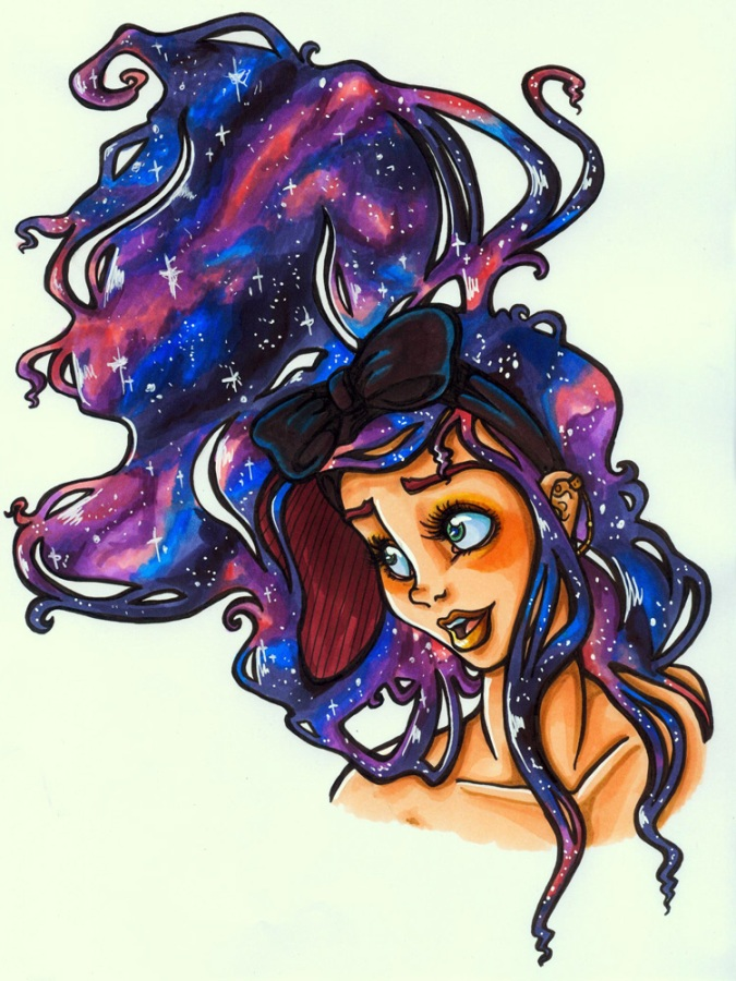 Galaxy Hair by Yaraffinity