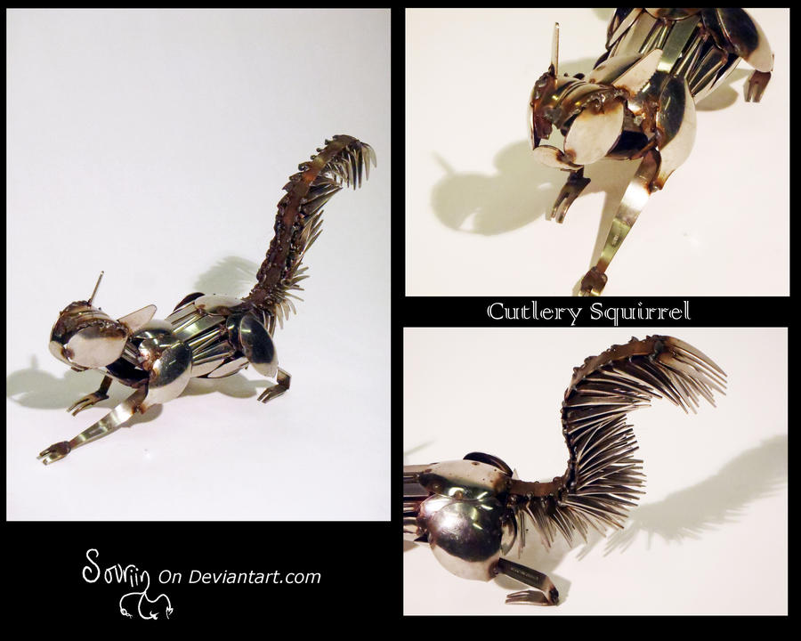 Cutlery Squirrel by Sovriin