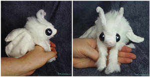 Selti the Poodle Moth Art Doll SOLD