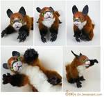 Benki the Posable Dragon Fox Art Doll SOLD