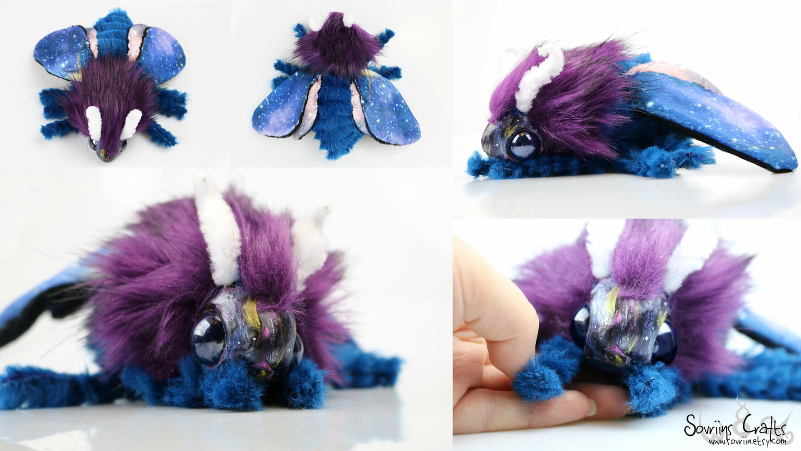 Nebulis the Galaxy Poodle Moth Art Doll FOR SALE