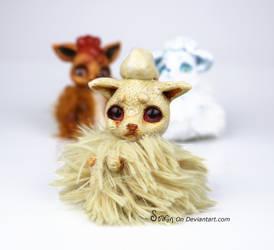 SilkyFace the Ninetails BonBun Art Doll SOLD by Sovriin