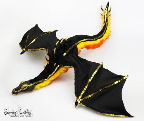 Calida the Royal Fire Dragon Art Doll FOR SALE .