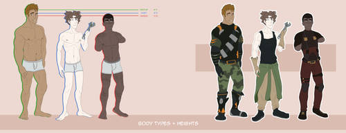 Height and Body Type Comparisons by SpiderRen