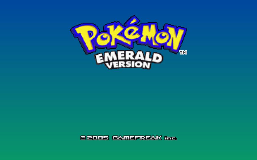 Pokemon Emerald Title Screen Wallpaper By Scrabzord On Deviantart