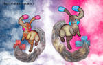 Minun and Plusle by BlueySerperiorNeo
