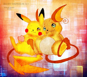 Pikachu X Raichu by BlueySerperiorNeo