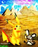 Dedenee and Pikachu by BlueySerperiorNeo