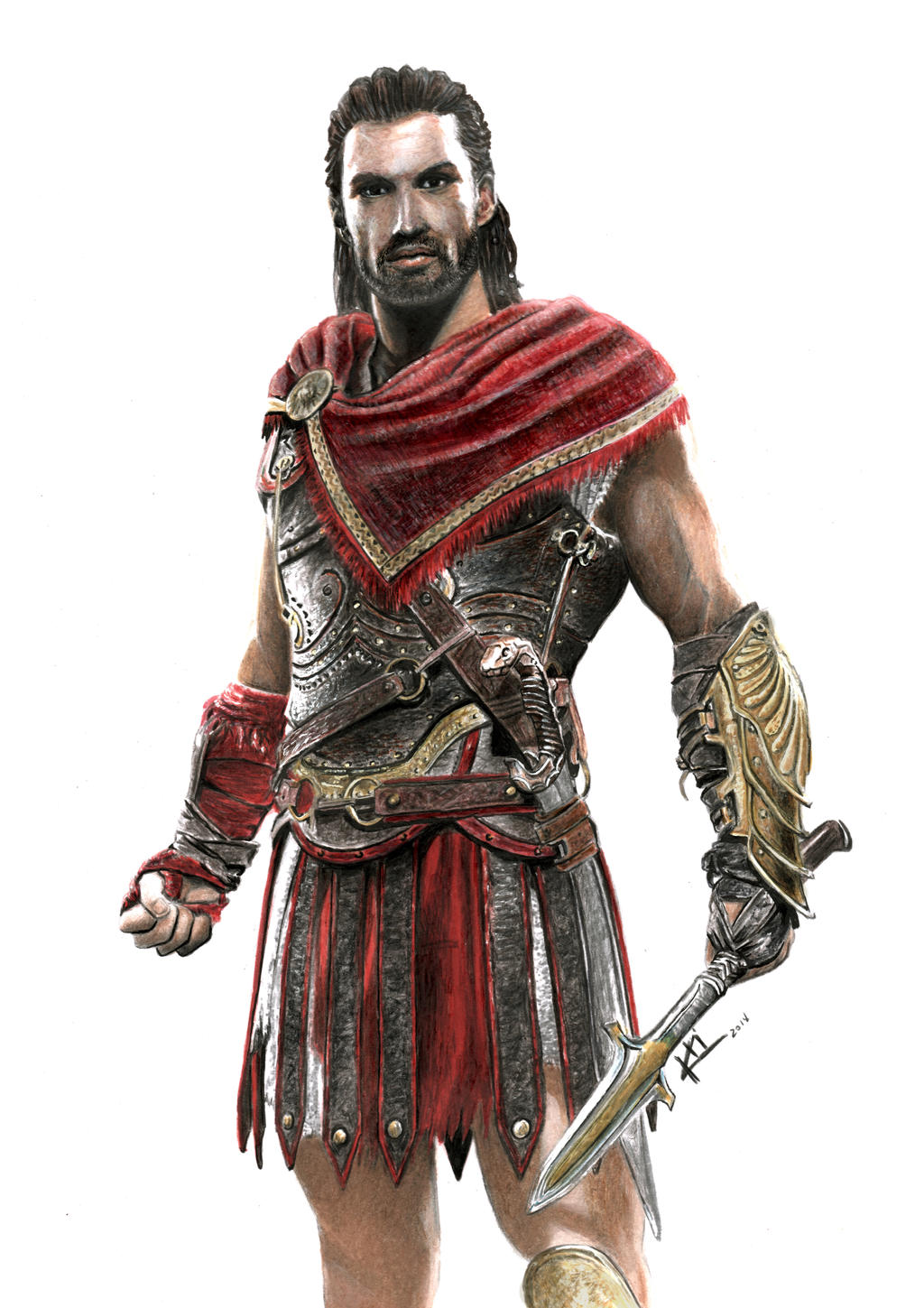 Alexios Drawing Assassin S Creed Odyssey By Ktidlart On Deviantart