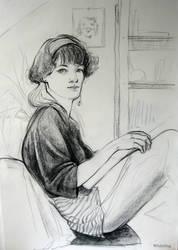 Self portrait in my Room by Whiteling