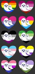 Pride Ghosties by ElectricRainbowSkull