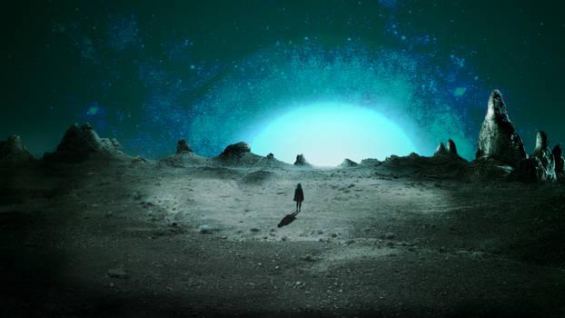 Finding light   Space art