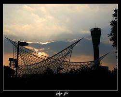 Kobe tower sunset by stevezpj
