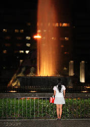 Hiroshima Night Fountain by stevezpj