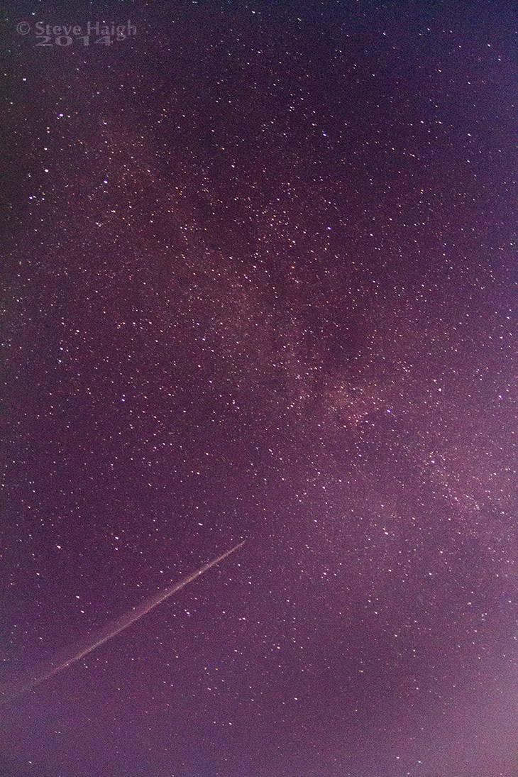 Plane Milky Way by stevezpj