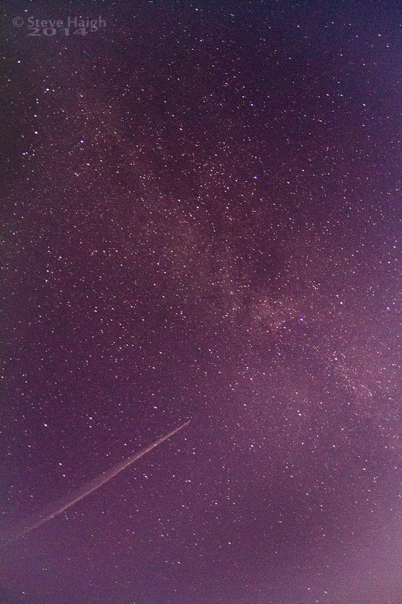 Plane Milky Way