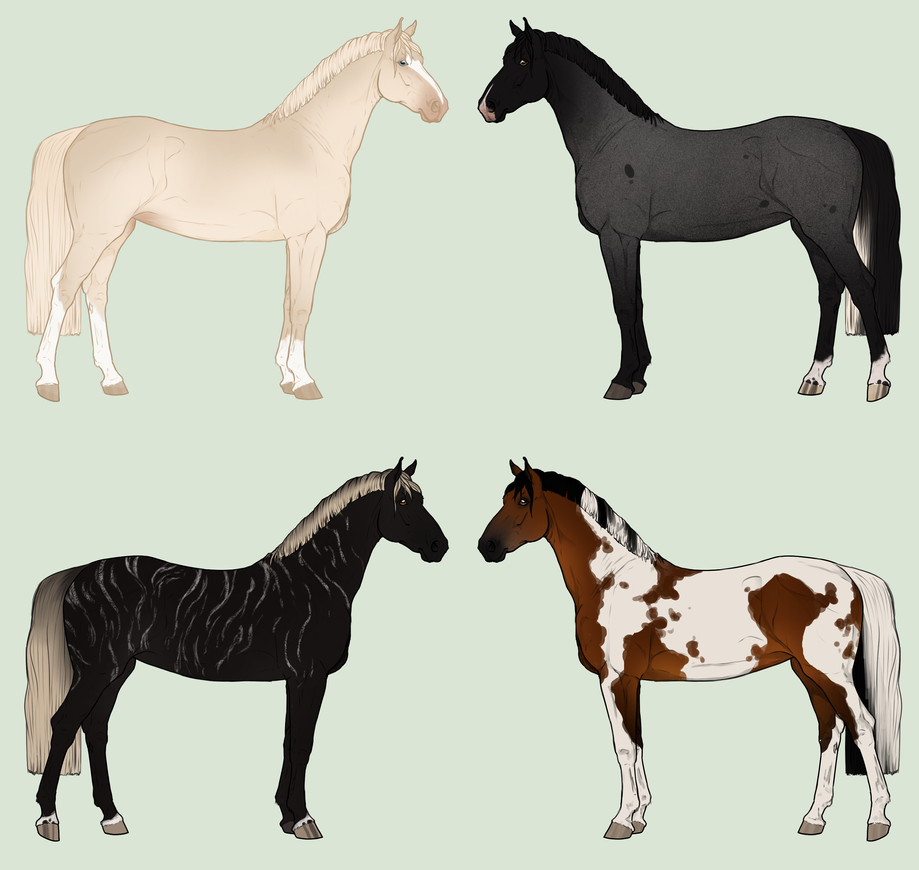 Warmblood Adopts 1 and 2 available by Lone-Onyx-Stardust