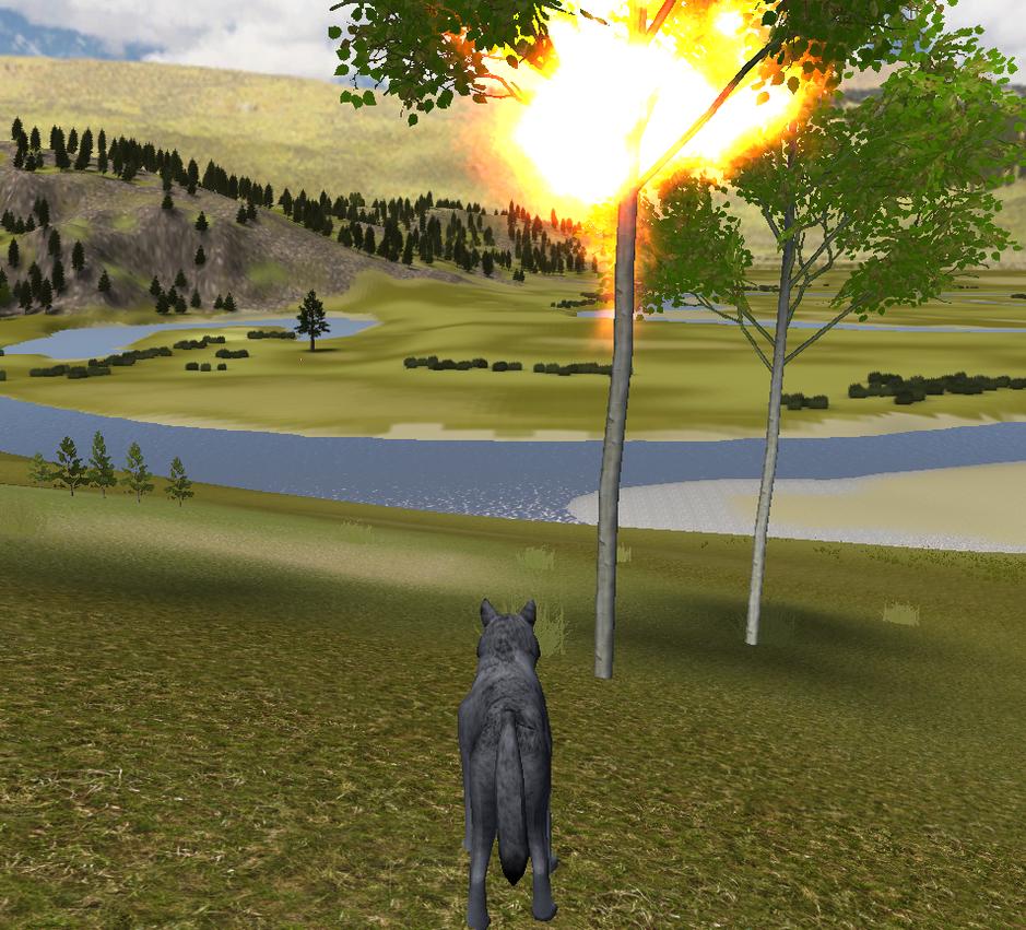 WolfQuest-ein wirklich tolles Spiel ;) Tree_on_fire_wolf_quest_by_starrawesome123-d5ukabi
