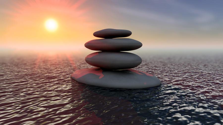 Zen Stones By Larsvonqualen