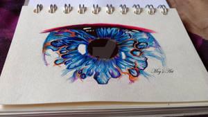 Eye - Biro pen DRAWING