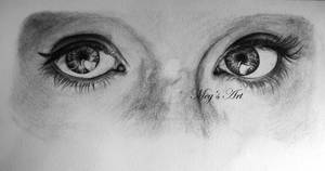 'Gaze' Pencil Drawing