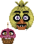 Pixel Chica and Cupcake (Pay for Use)