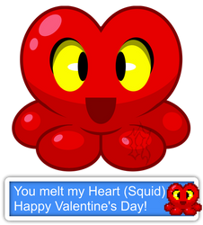 You Melt My Heart (Squid) (Valentine) by Noxious-Croww