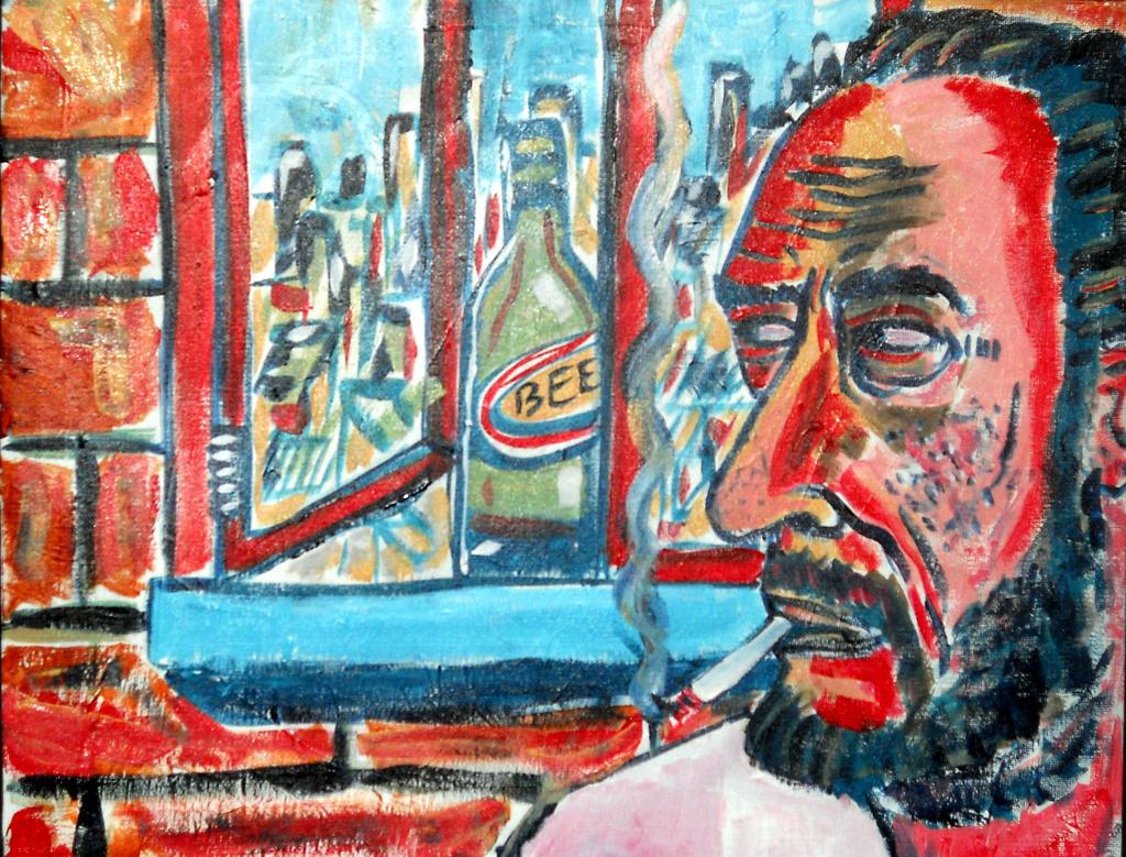 Charles Bukowski by giuanne
