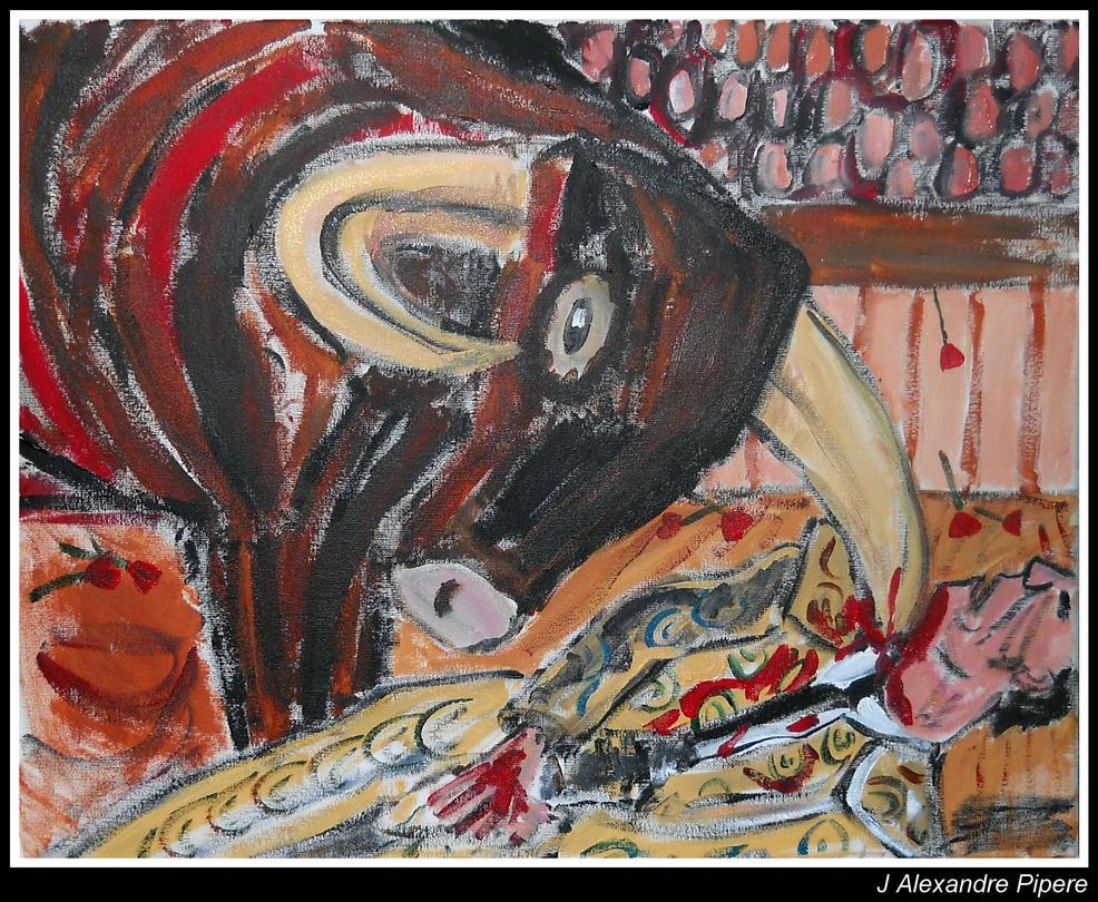 Bull Gores Matador by JohnAlexandrePipere
