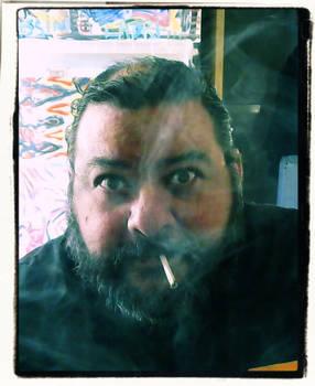 Smoking With Hockney