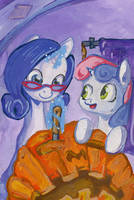 Rarity and Sweety by lexx2dot0