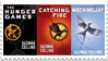 The Hunger Games: covers stamp