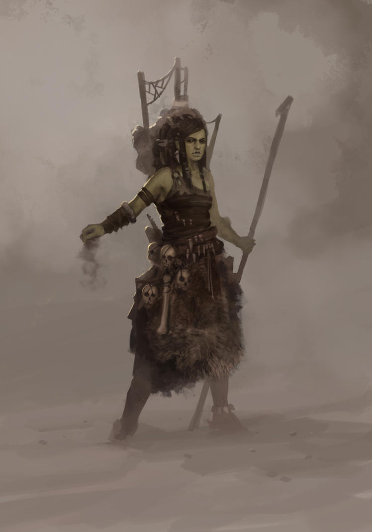 Female Orc Shaman by boc0