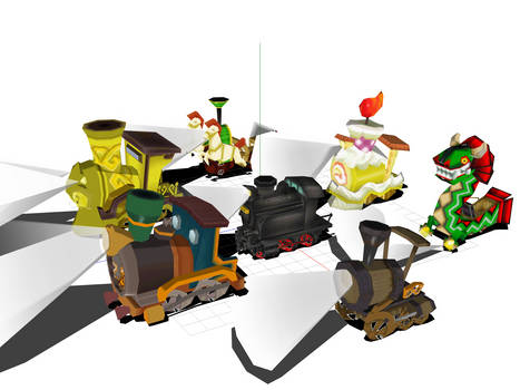 Zelda spirit tracks train model patched