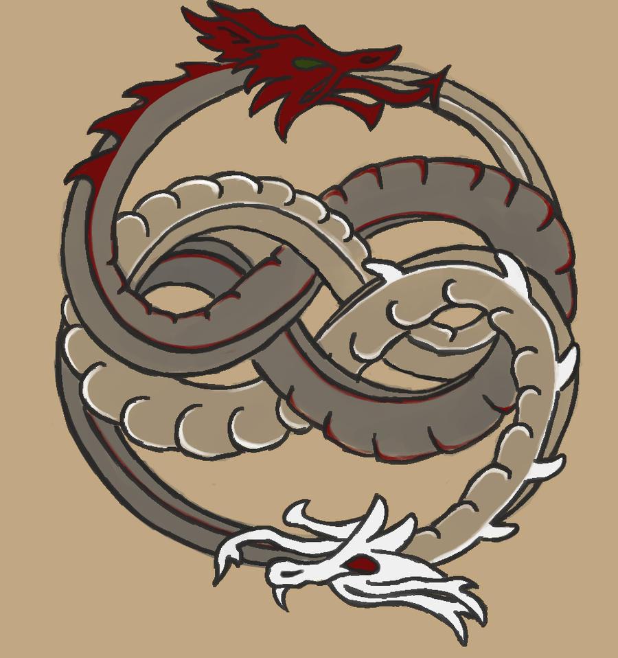 Celtic Dragon Tattoo Art