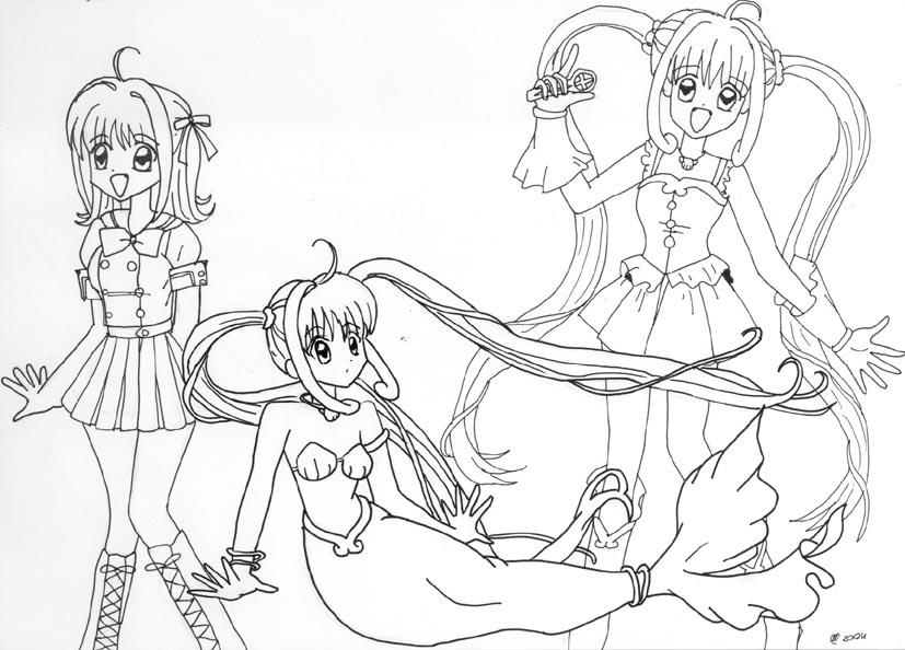 Mermaid Melody Luchia Princess Coloring Coloring Pages