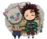CHIBI / Demon Slayer - Inosuke and Tanjiro
