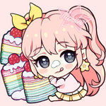 [C]Snitching food CHIBI ICON(rainbow crepe cake)