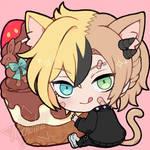 [C]Snitching food CHIBI ICON(Chocolate bunny)