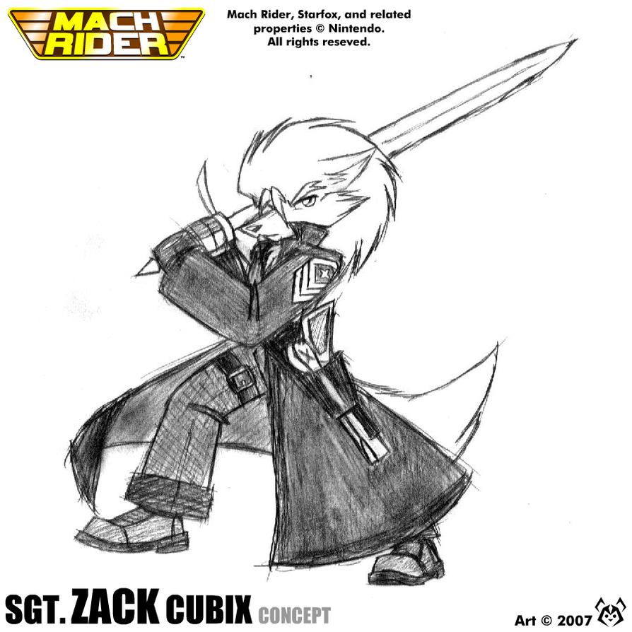 Mach Rider 2 - Sgt. Zack Cubix by MalamiteLtd