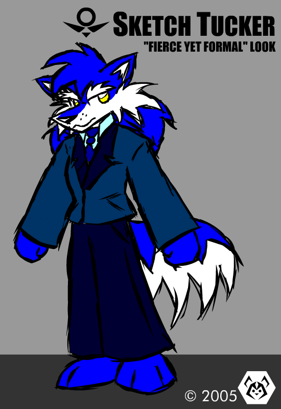 Sketch Tucker in a suit by MalamiteLtd