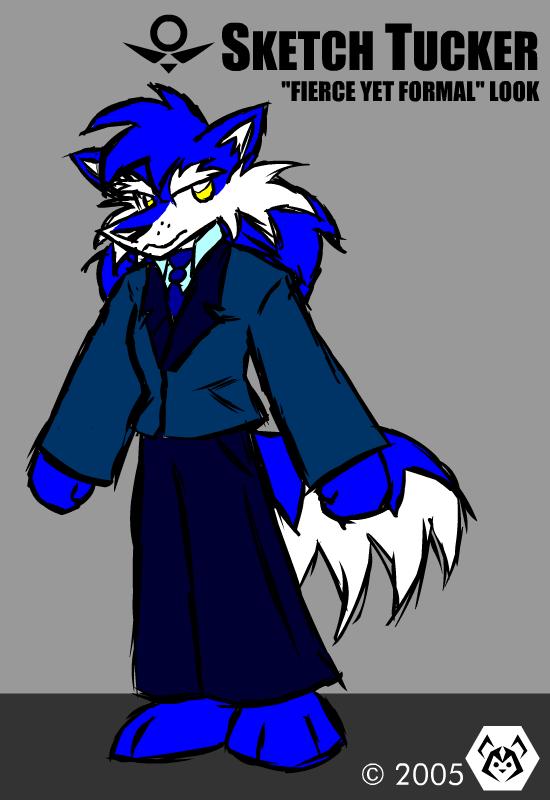 Sketch Tucker in a suit by MalamiteLtd