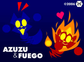 Azuzu and Fuego by MalamiteLtd