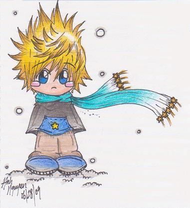 Chibi Roxas in color by AonAllstars