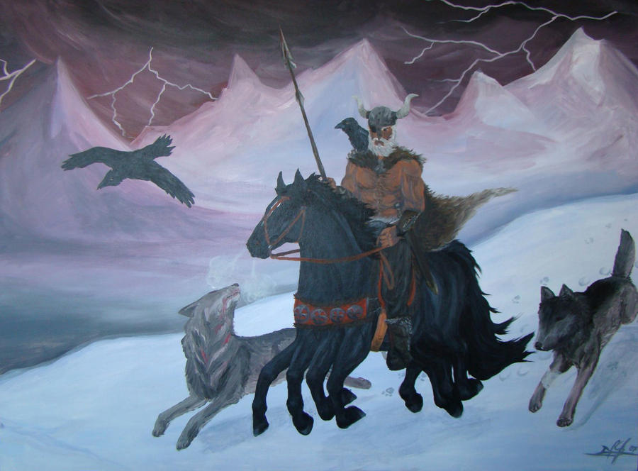 Odin and Sleipnir by tala87 on DeviantArt